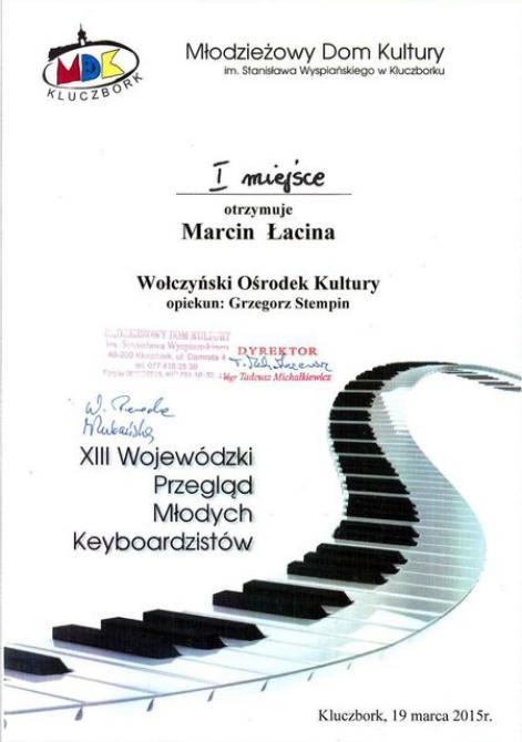 Galeria XIII Międzypowiatowy Przegląd Młodych Keyboardzistów